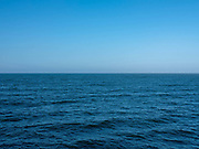 A view of the North Sea from the pier on 21 April 2020 in Saltburn-by-the-Sea, Cleveland, United Kingdom.