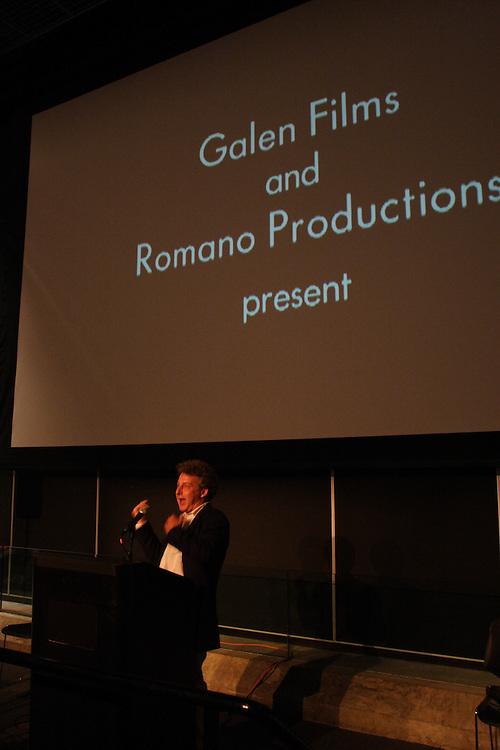 "Roberto Romano introduces his film, ""Stolen Childhoods."".."