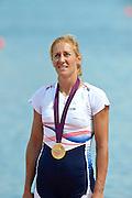 Eton Dorney, Windsor, Great Britain,..2012 London Olympic Regatta, Dorney Lake. Eton Rowing Centre, Berkshire.  Dorney Lake.  .Women's Single Sculls, Medals Gold Medalist, CZE W1X Mirca KNAPKOVE. ..13:11:26  Saturday  04/08/2012 [Mandatory Credit: Peter Spurrier/Intersport Images]