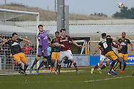 The U's defend during the Sky Bet League 2 match between Northampton Town and Cambridge United at Sixfields Stadium, Northampton, England on 12 March 2016. Photo by Dennis Goodwin.
