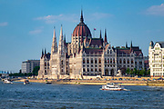 View of the Hungarian Parliament building from the Chain Bridge