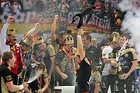 Håndball<br /> VM Tyskland<br /> 04.02.07<br /> Finale <br /> Tyskland - Polen<br /> Tyskland Verdensmester<br /> Oliver Roggisch  Henning Fritz  Markus Baur mit WM-Pokal Deutschland<br /> DIGITALSPORT / NORWAY ONLY