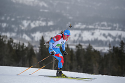 February 8, 2019 - Calgary, Alberta, Canada - Latypov Eduard (RUS) is competing during Men's Relay of 7 BMW IBU World Cup Biathlon 2018-2019. Canmore, Canada, 08.02.2019 (Credit Image: © Russian Look via ZUMA Wire)