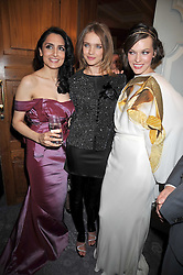 Left to right, RENU MEHTA, NATALIA VODIANOVA and MILLA JOVAVICH  at the 3rd Fortune Forum Summit held at The Dorchester Hotel, Park Lane, London on 3rd March 2009.