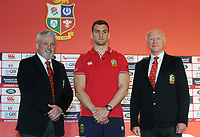 Rugby Union - 2017 British & Irish Lions Tour to New Zealand - Squad & Captain Announcement Press Conference<br /> <br /> Coach Warren Gatland with the Lions Captain, Sam Warburton and Lions Tour Manager, John Spencer at the Hilton Syon Park, London.<br /> <br /> COLORSPORT/ANDREW COWIE