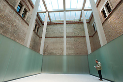 New platform built in the Egyptian Courtyard of the newly renovated Neues Museum on the Museuminsel in central Berlin reopened after many years construction work Architect David Chipperfield March 2009