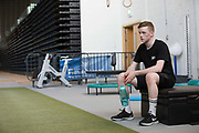Training and rehabilitation for GB snowboarder Matt McCormick on 27th July 2017 in Glasgow, United Kingdom
