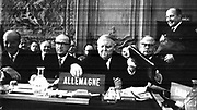 German Minister of Economics Ludwig Erhard attending the OEEC Ministerial Council Meeting. Chateau de la Muette, Paris, 17 October 1957
