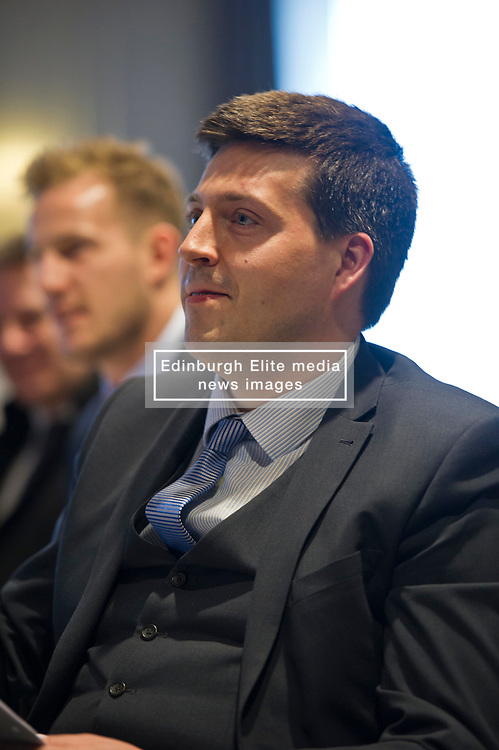 Pictured: Jamie Hepburn, Employment and training minister, MSP.<br /> Employment and training minister Jamie Hepburn MSP responded to the latest labour market statistics while attending the annual conference of learning technologies provider eCom Scotland in Edinburgh today.<br /> <br /> Ger Harley | EEm 15 March 2017