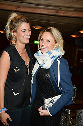 Left to right, LUCY CURRELL and VICTORIA FARRAR at 'Bodo's Schloss Goes Wild For Lewa' held at Bodo's Schloss, 2A Kensington High St, London W8 on 9th October 2013.