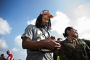 January 27 2016: LA Rams Todd Gurley during the Pro Bowl Draft at Wheeler Army Base on Oahu, HI. (Photo by Aric Becker/Icon Sportswire)