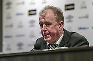 Steve McClaren (Newcastle United) during the press conference following the Barclays Premier League match between Everton and Newcastle United at Goodison Park, Liverpool, England on 3 February 2016. Photo by Mark P Doherty.