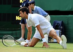 July 7, 2018 - Angleterre - Wimbledon - Novak Djokovic Serbie (Credit Image: © Panoramic via ZUMA Press)