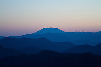 Looking south at Mount Saiint Helens. from Mt. Rainier National Park, WA.