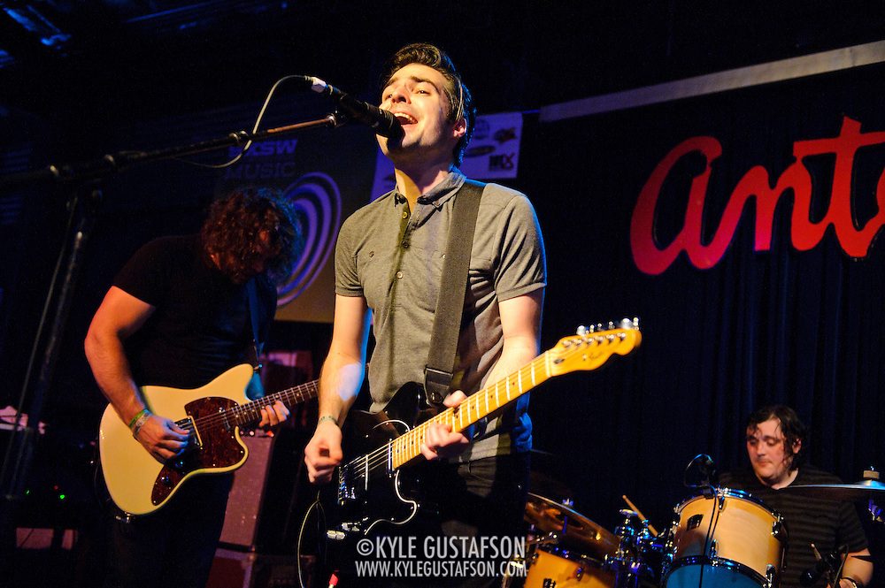 AUSTIN, TX - March 17th: The Boxer Rebellion perform at the Live4ever.com British Music showcase at Antone's as part of the 2011 South by Southwest Festival. (Photo by Kyle Gustafson)