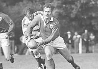 Rugby Union - 1970 / 1971 season - London Welsh vs. Abertillery <br /> <br /> John Dawes on the ball for London Welsh at Old Deer Park.<br /> <br /> 25/09/1970