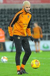 Romain Saiss of Wolverhampton Wanderers warms up -Mandatory by-line: Nizaam Jones/JMP- 17/01/2018 - FOOTBALL - Liberty Stadium- Swansea, Wales - Swansea City v Wolverhampton Wanderers - Emirates FA Cup third round proper