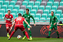 Savic Stefan of NK Olimpija Ljubljana vs Martinovic Ilija of NK Aluminij during football match between NK Olimpija Ljubljana and NK Aluminij in Round #27 of Prva liga Telekom Slovenije 2018/19, on April 14th, 2019 in Stadium Stozice, Slovenia Photo by Matic Ritonja / Sportida