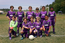 09 April 2016. Hammond, Louisiana.<br /> South Tangi Youth Soccer Association (STYSA), Chappapeela Sports Complex, 30th Annual Strawberry Cup,  <br /> New Orleans Jesters Youth Academy U10 Green 3. <br /> Photo©; Charlie Varley/varleypix.com