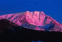 Sunrise over 13,514 ft. Ypsilon Mountain of the Mummy Range, Rocky Mountain National Park, Colorado.  USA