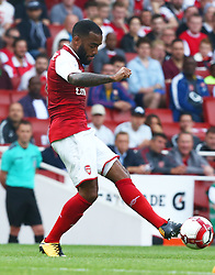July 30, 2017 - London, England, United Kingdom - Arsenal's Alexandre Lacazette.during Emirates Cup match between Arsenal  against Savilla FC   at Emirates Stadium on July 30, 2017 in London, England. (Credit Image: © Kieran Galvin/NurPhoto via ZUMA Press)