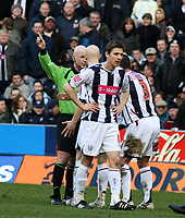Photo: Mark Stephenson.<br />West Bromwich Albion v Sunderland. Coca Cola Championship. 03/03/2007.<br />West Brom's Paul Robinson is sent off in the second half for a bad tackle.