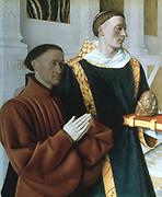 Etienne Chevalier and Saint Stephen' 1450: Jean Fouquet (1420-1481) French painter.