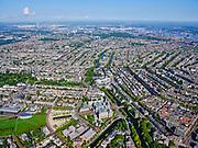 Nederland, Noord-Holland, Amsterdam, 02-09-2020; Amsterdam-Zuid, Museumplein met Rijksmuseum. Ruysdaelkade onder in beeld, rechts Stadhouderskade richting Leidseplein (midden). Zicht op Oud-West, Jordaan en Grachtengordel.<br /> <br /> luchtfoto (toeslag op standard tarieven);<br /> aerial photo (additional fee required);<br /> copyright foto/photo Siebe Swart