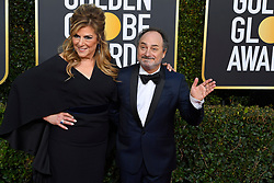 January 6, 2019 - Los Angeles, California, U.S. - Caroling Aaron and Kevin Pollak during red carpet arrivals for the 76th Annual Golden Globe Awards at The Beverly Hilton Hotel. (Credit Image: © Kevin Sullivan via ZUMA Wire)