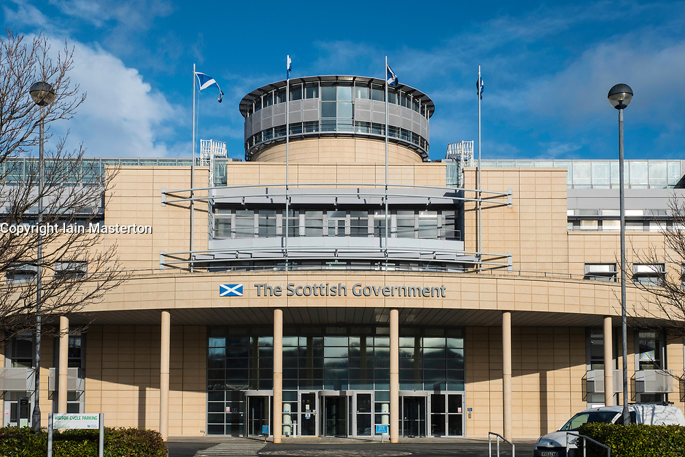 Exterior of Victoria Quay Scottish Government offices in Leith, Scotland, United Kingdom