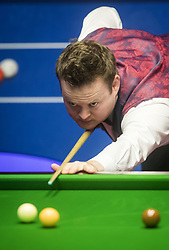 Shaun Murphy in action against Yan Bingtao on day two of the Betfred Snooker World Championships at the Crucible Theatre, Sheffield.