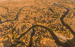 October 9, 2018 - Xinjiang, Xinjiang, China - Xinjiang,CHINA-Autumn scenery of Irtysh River in Beitun, northwest China's Xinjiang. (Credit Image: © SIPA Asia via ZUMA Wire)