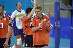 21-09-2000 AUS: Olympic Games Volleybal Nederland - Brazilie, Sydney<br /> Nederland verliest met 3-0 van Brazilie / Bas van de Goor