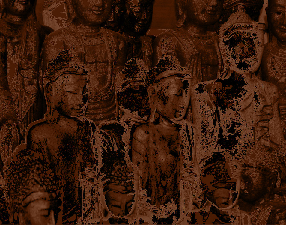 Buddha Art - Images created from photographs of actual Buddha Statues in Southeast Asia including Thailand, Cambodia, Myanmar and Laos.
