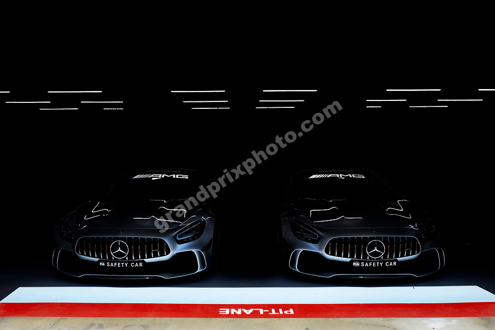 FIA safety and medical cars before 2020 Spanish Grand Prix at the Circuit de Barcelona Catalunya. © Copyright: FIA Pool Image via Grand Prix Photo - for Editorial Use Only