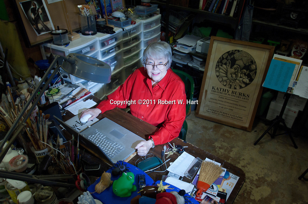 Kathy Burk in her workshop at The Dallas Children's Theater on 10/14/11....Robert W. Hart/Special Contributor