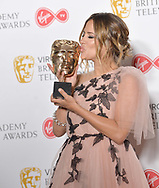 VIRGIN TV BRITISH ACADEMY TELEVISION AWARDS IN 2018<br /><br />SUNDAY 13 MAY<br />ROYAL FESTIVAL HALL   SOUTHBANK CENTRE<br />Coroline Flack holds the award for Love Island winner of Reality and constructed Factual award