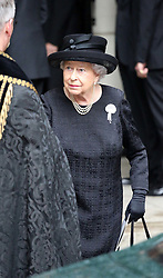 Queen Elizabeth II leaves the funeral of Countess Mountbatten of Burma at St Paul's Church, Knightsbridge, London. ... 27-06-2017 ... Photo by: Mark Richards/The Daily Mail/PA Wire.URN:31853218