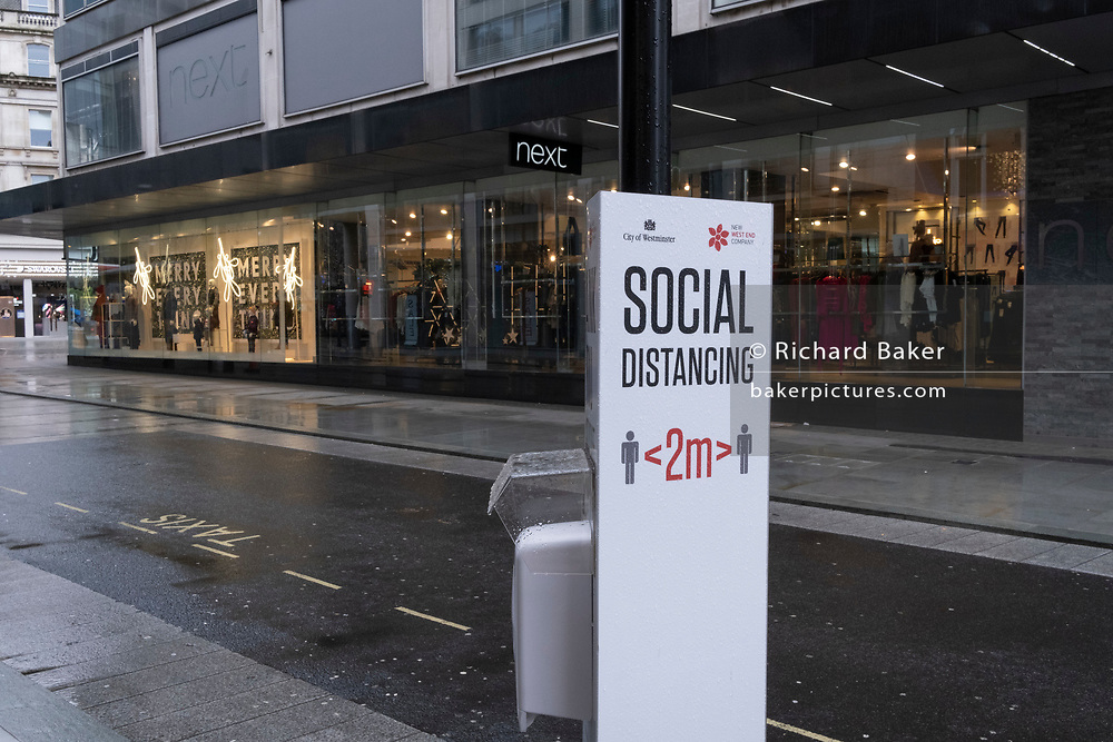 Four days before Christmas, retailers remain closed after the government's last-minute u-turn on the easing of Coronavirus pandemic rules. Instead, London and the South-East has been put under a Tier 4 restriction, forcing the closure of non-essential shops and small businesses, on 21st December 2020, in London, England.