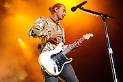 Bush performing at Pointfest at Verizon Wireless Amphitheater in St. Louis on August 20, 2011. © Todd Owyoung.