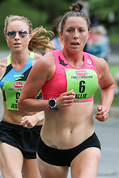 Allie Keiffer, pro runner with Oiselle, leading Jess Tonn, has captivated the running world after a surprising 5th place in the 2017 NYC marathon. Advocating for healthy body image, Keiffer competes at the highest level of American road-racing.<br />