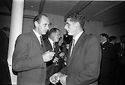 26/09/1962<br /> 09/26/1962<br /> 26 September 1962<br /> Opening of Earl Bottlers Ltd. at South Earl Street, Dublin. Minister for Justice Charles Haughey opened the new premises that produced Sandyman port. Mr Nigel Beamish on right.