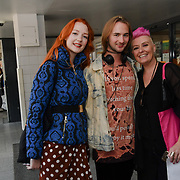 Victoria Clay,Robert and Lisa J Allen attend Brigits Bakery host their Pink Ribbon Afternoon Tea in aid of the Pink Ribbon Foundation, London, UK. 16 October 2018.