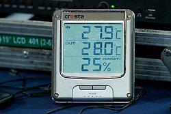 21-09-2019 NED: EC Volleyball 2019 Netherlands - Germany, Apeldoorn<br /> 1/8 final EC Volleyball / Item, temperature, Humidity