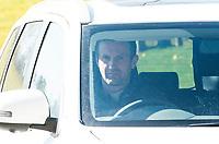 20/04/16 <br /> CELTIC PARK - GLASGOW<br /> Celtic Manager Ronny Deila leaves Lennoxtown