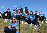 Brighton and Hove Albion ladies team support Worthing United and East Preston FC at the Robert Eaton Memorial Ground, Worthing, United Kingdom on 6 September 2015. The first home match for Worthing United since losing team mates Matthew Grimstone and Jacob Schilt in the Shoreham air show disaster.