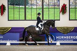 Kronberg, Gestüt Schafhof, KRONBERG _ Int. Festhallen Reitturnier Schafhof Edition 2020,<br /> <br /> MUELLER Lune-Karolin (GER), Seal 4<br /> Preis der Liselott Schindling Stiftung<br /> Piaff-Förderpreis - Finale<br /> U25 Grand Prix<br /> Dressurprüfung Kl.S***<br /> <br /> 20. December 2020<br /> © www.sportfotos-lafrentz.de/Stefan Lafrentz