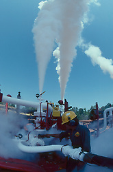 Stock photo of an oil field CO2 frac operation in East Texas.