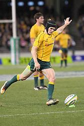 © Licensed to London News Pictures. 16/06/2012. Etihad Stadium, Melbourne Australia. Berrick Barnes during the 2nd Rugby Test between Australia Wallabies Vs Wales . Photo credit : Asanka Brendon Ratnayake/LNP