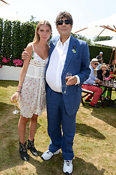 TIM HOARE and his daughter KATE HOARE at the Cartier 'Style et Luxe' part of the Goodwood Festival of Speed, Goodwood House, West Sussex on 14th July 2013.